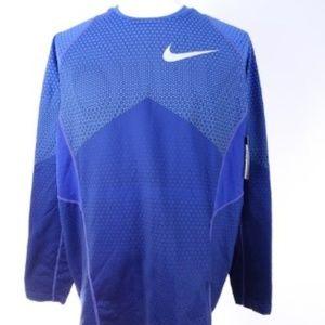 Nike Pro Hyperwarm Men's Long Sleeve Blue Size XXL